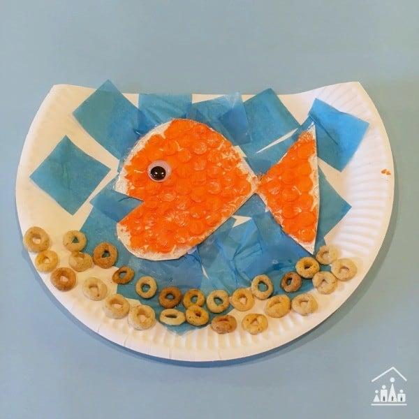 recycled bubble wrap goldfish blue