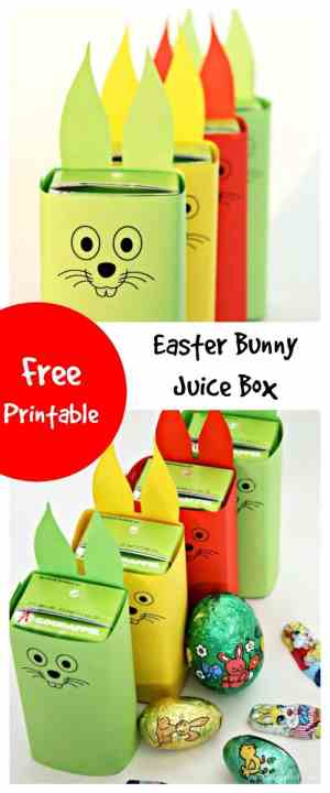 Easy to Make with FREE Printable - this Easter Bunny Juice Box is the perfect addition for any Easter Party