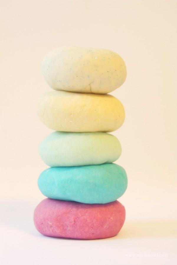 Frozen PlayDough - easy to make - no cook - including glitter