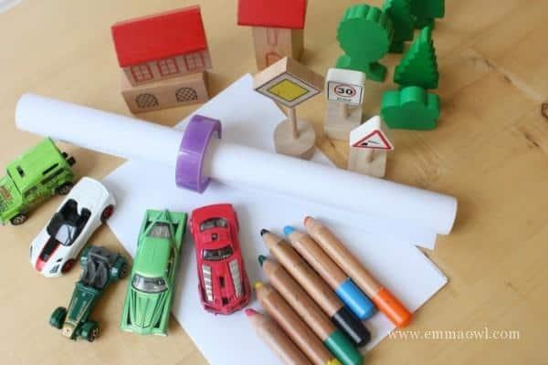 Racing Car Busy Bag Items