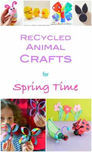 Spring time welcomes the arrival of the cutest little babies - and new flowers start to buzz!! Here are 30 recycled spring crafts to keep you busy!