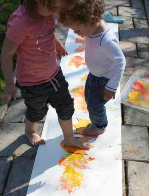 Painting with Duck Feet - Outdoor Craft Activity