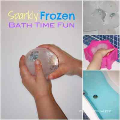 Sparkly Frozen Bath Time Fun