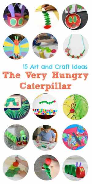 Here are 15 FANTASTIC Art and Craft ideas for children all based on the wonderful book The Very Hungry Caterpillar!