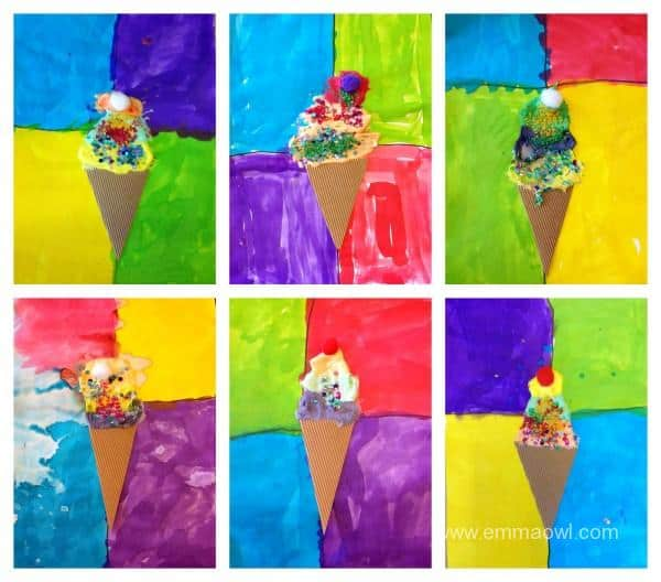 Puffy Paint Ice Creams