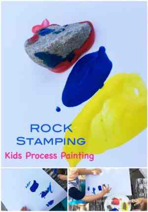 Rock Stamping is a wonderful - and easy to set up - Process Art Painting Project for Kids
