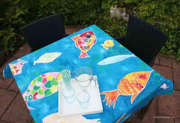 Table Cloth Made using EASY Batik