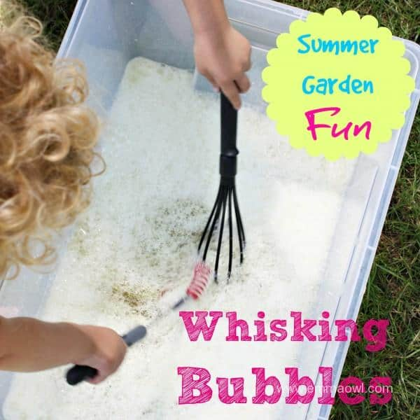 Whisking Bubbles - Summer Garden Fun