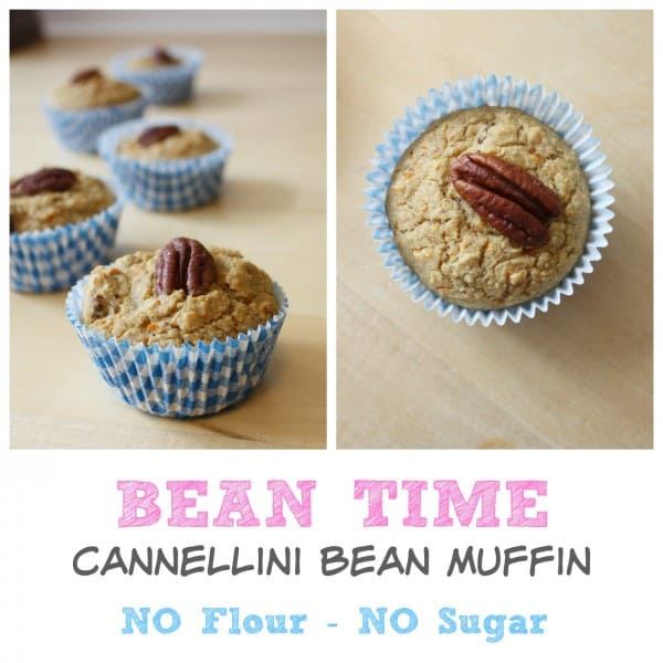 NO Flour and NO Sugar - this Cannelloni Bean Muffin is the perfect healthy treat