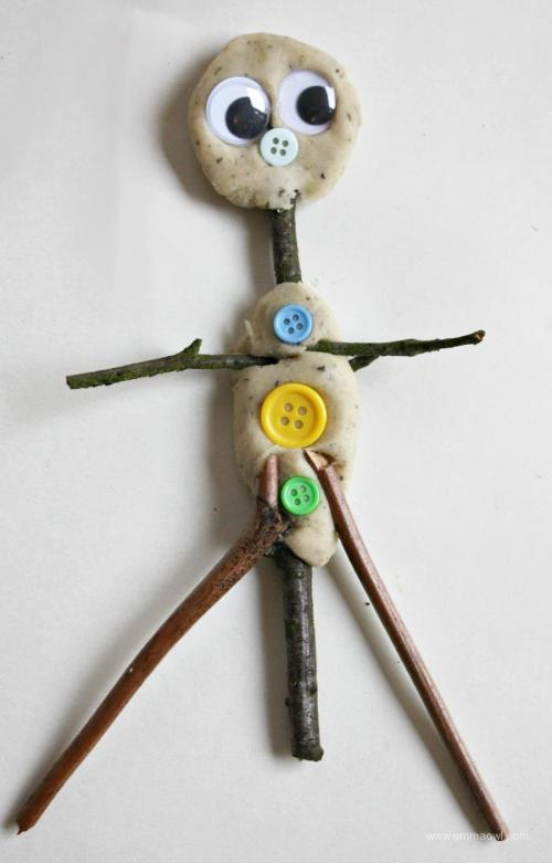 making-a-stick-man-with-play-dough