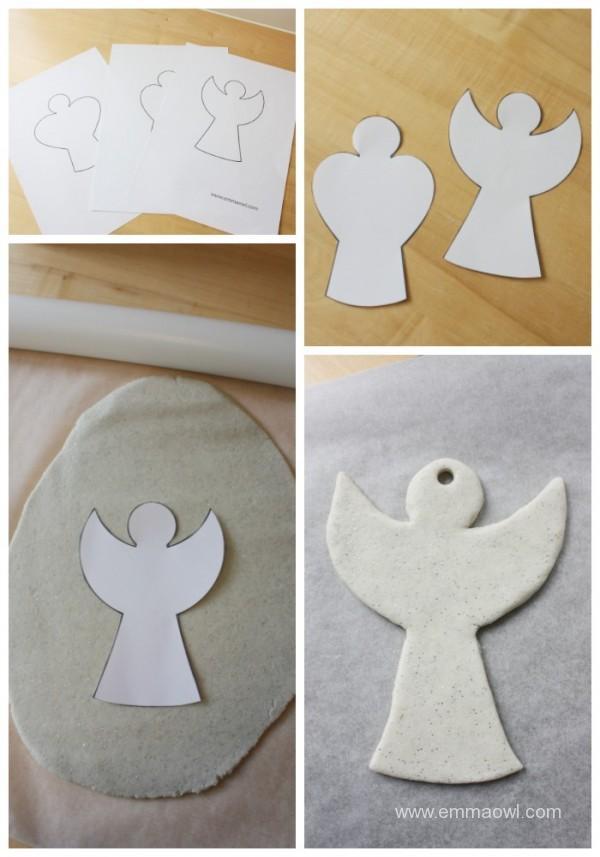 making-salt-dough-angels