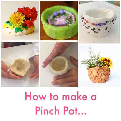 How to make a pinch pot - easy kids craft