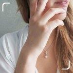 Collana in Argento Pendente con Zirconi e Perla di Fiume
