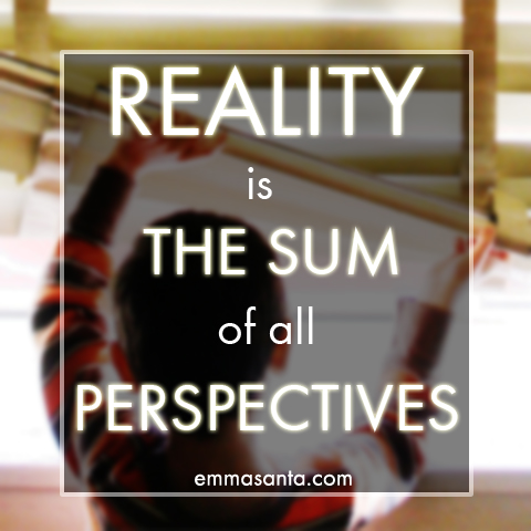 Reality is the sum of all perspectives.