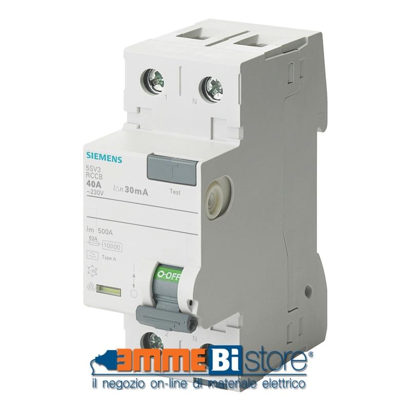 Interruttore Differenziale puro 40A 003 Tipo A Siemens