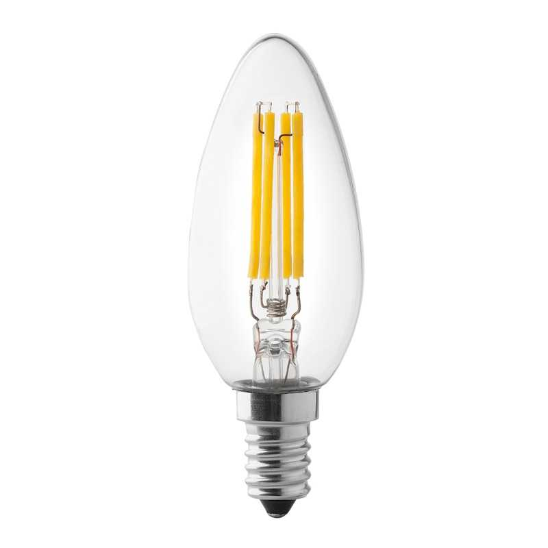 Lampada a led a candela 4W luce naturale attacco piccolo Wiva 12100510