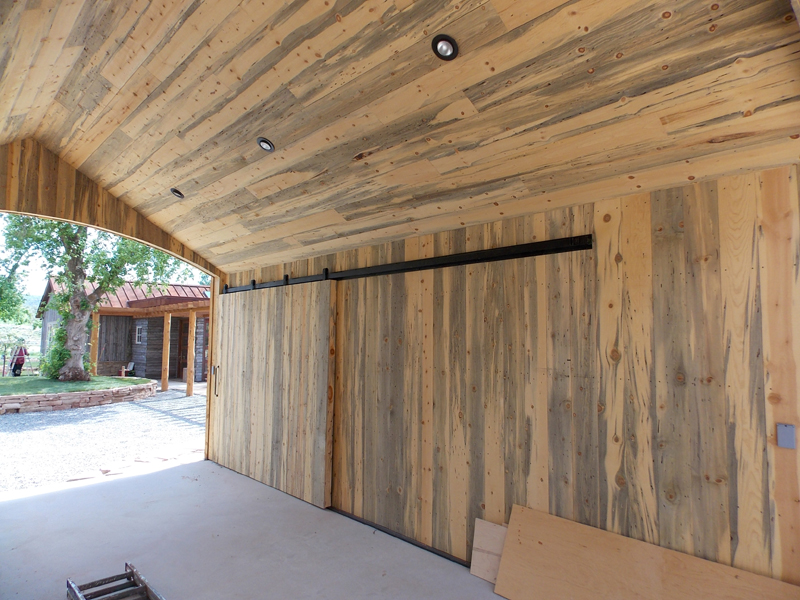 Staining Knotty Pine Paneling