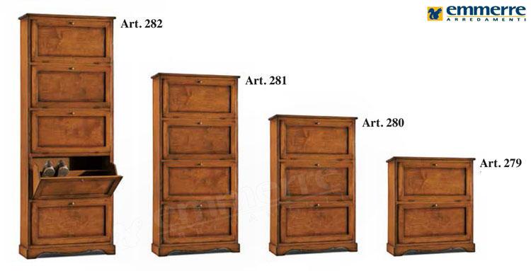 Scarpiera in legno  Emmerre Arredamenti Srl  Arredamento