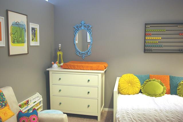 Colorful loft toddler bedroom