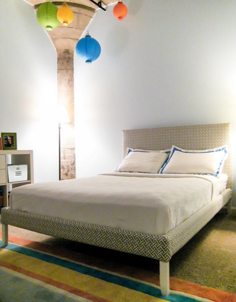 DIY upholstered bed - Loft Kids Bedroom