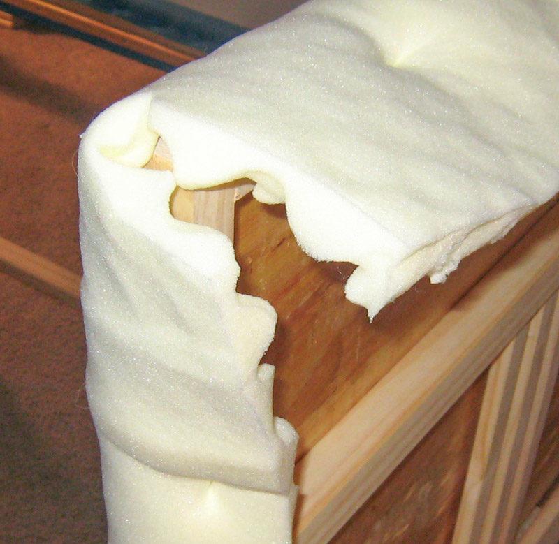 How to fold corners on foam batting 1