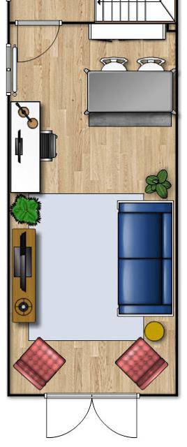 Long Narrow Living Room Design Floor Plan