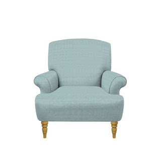 Duck Egg Curved Arm Chair