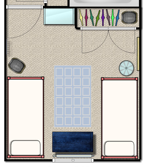 Shared Kids Room Floor Plan Two Beds ORC