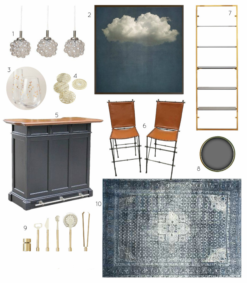 Moody Girl Cave Bar Design Mood Board