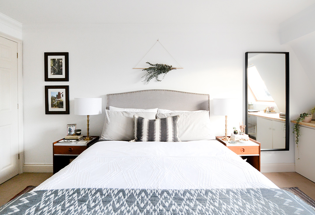Neutral Layered Light Master Bedroom One Room Challenge Reveal