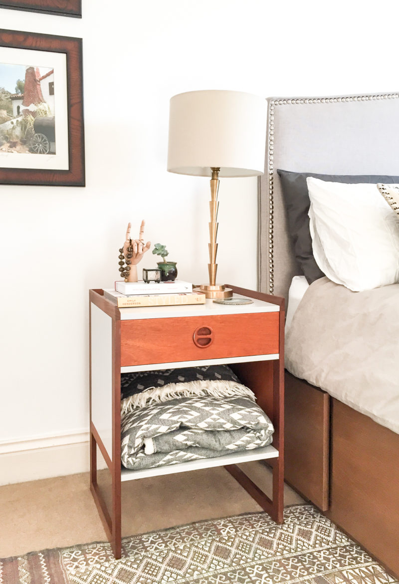 Refinished Mid-Century bedside tables