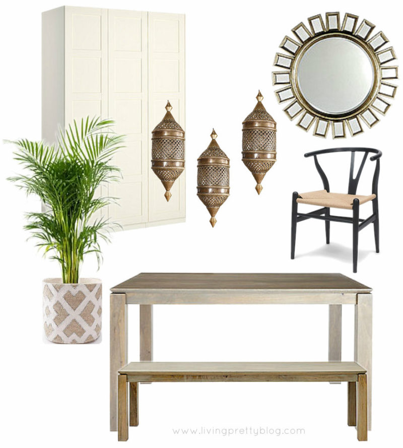 Mood Board - Neutral Modern Global Dining Room Design