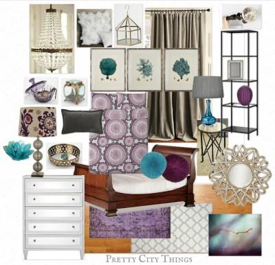 Mood Board - Sam's Luxe Jewel-Toned Bedroom Design