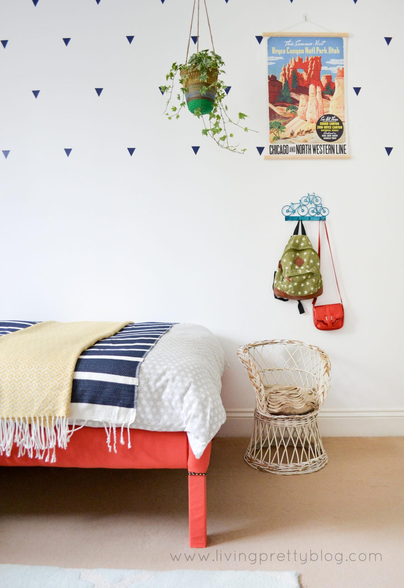 Shared Kids Room Wicker Chair