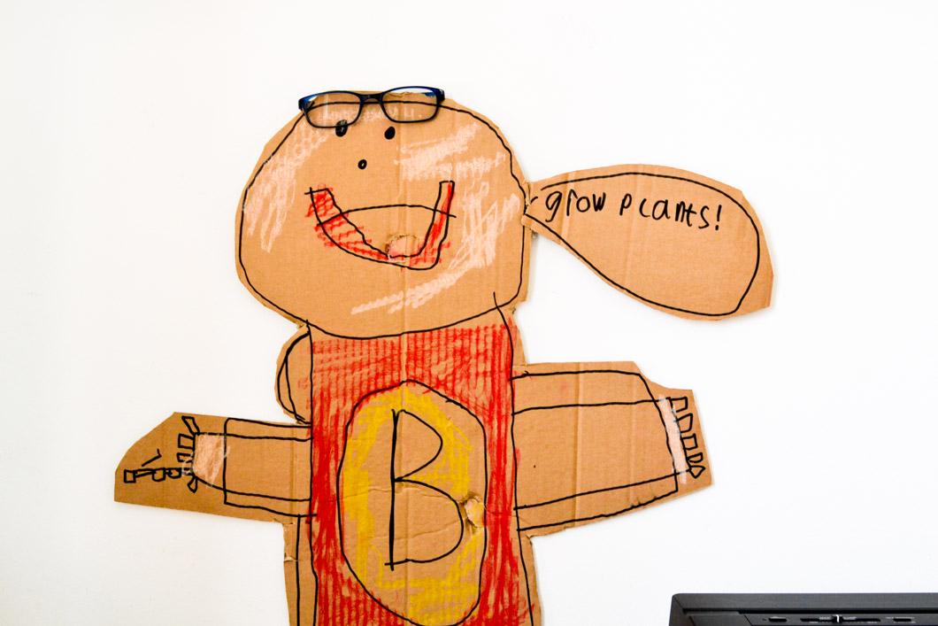Image of super hero kid's artwork