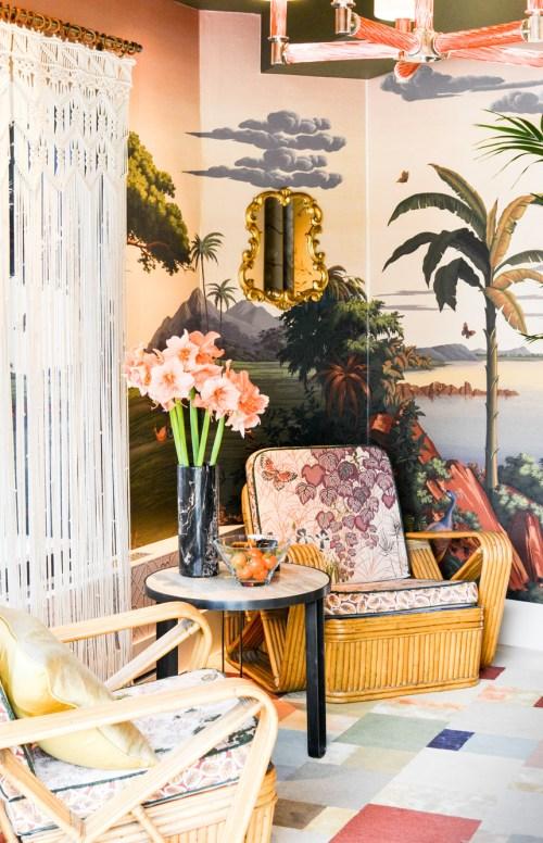 2017 Interior Design Trends Home Decor Trend Report - Rattan & Greenery via Best & Lloyd