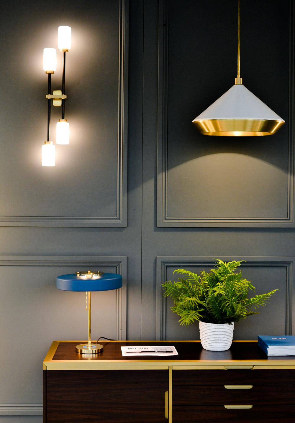 2017 Interior Design Trends Home Decor Trend Report - Mixed Metal Lighting via Bert & Frank
