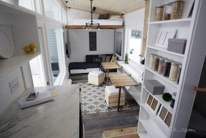 Ana White Tiny House Open Plan Scandi Style - Bedrooms