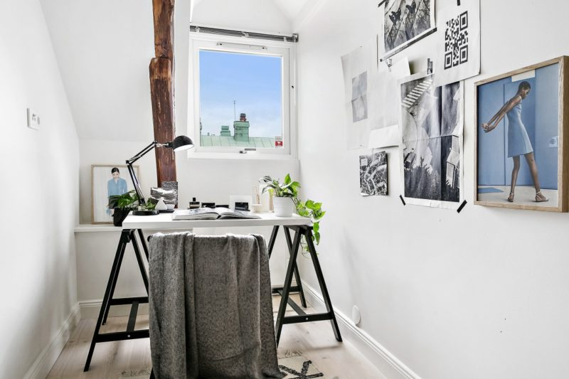 Neutral Scandinavian Apartment Stockholm Office Area