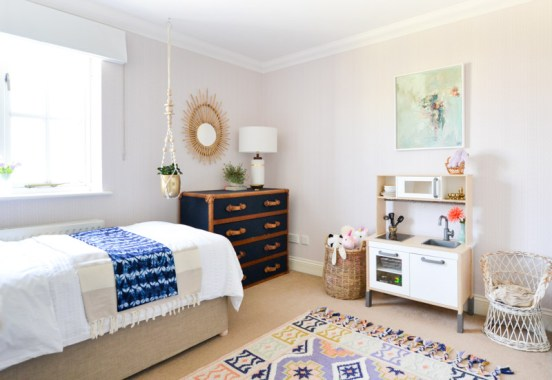 Global boho kids room makeover -