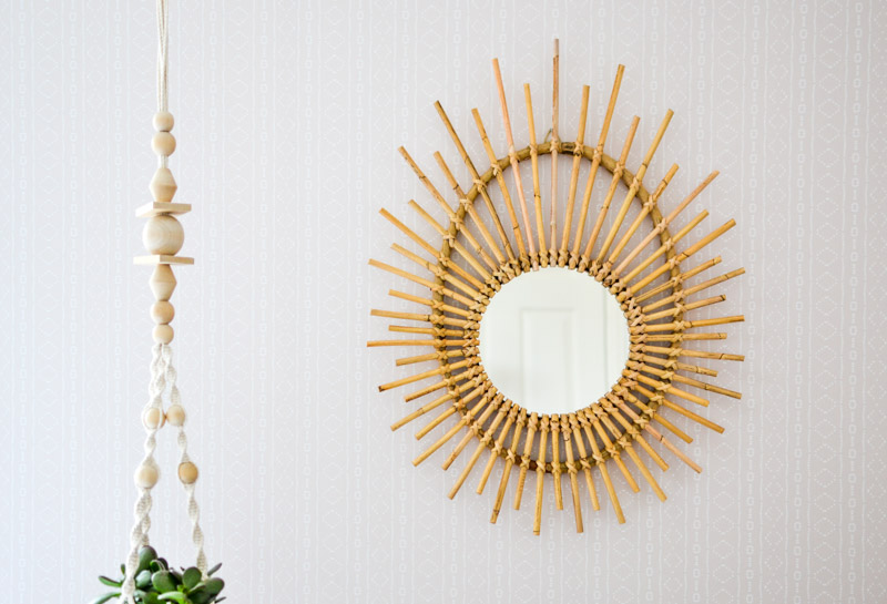 How to Hang Removable Wallpaper 1 - Position & Hang Artwork First