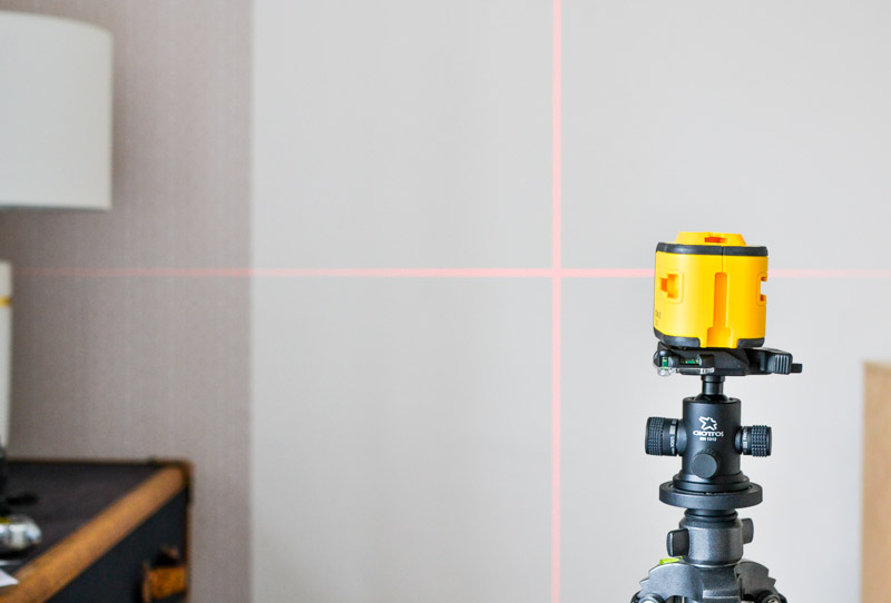 How to Hang Removable Wallpaper: Use a Laser Level