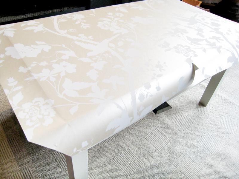 Ikea Lack Hack Coffee Table Makeover in progress