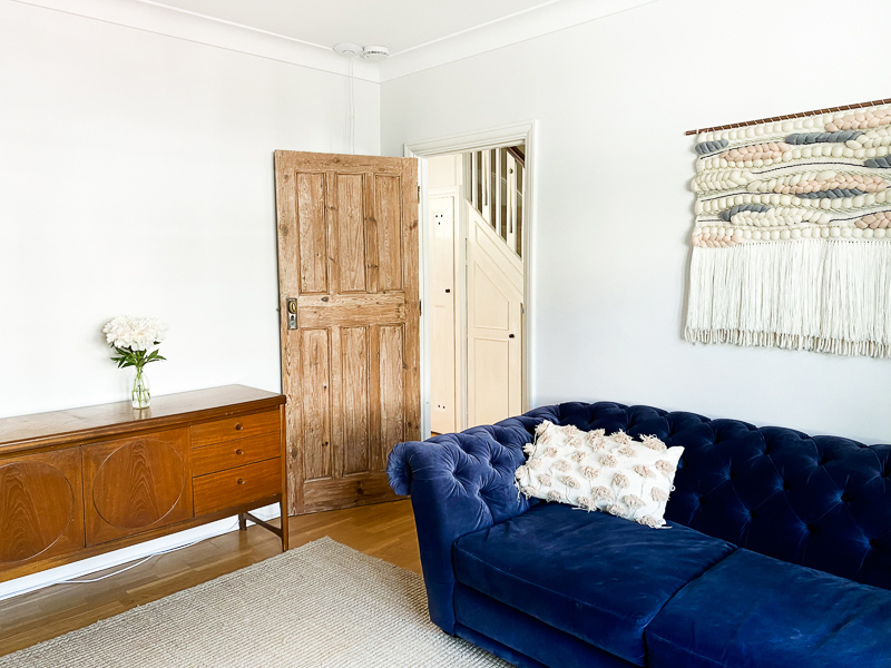 Chesterfield sofa in living room makeover