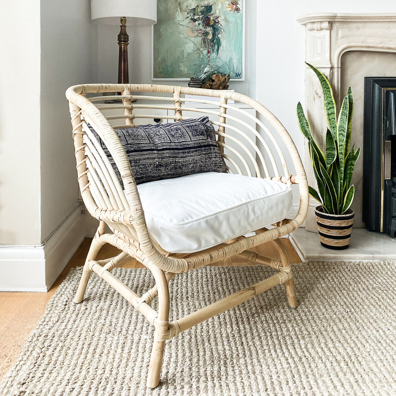 Ikea Buksbo rattan chair