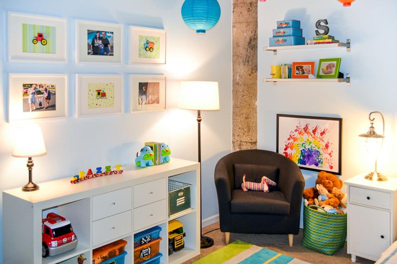 Industrial loft bright toddler bedroom