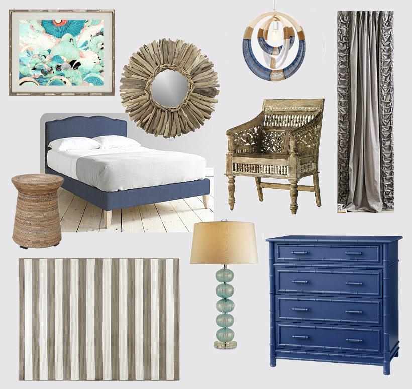 Ocean Inspired Bedroom Design
