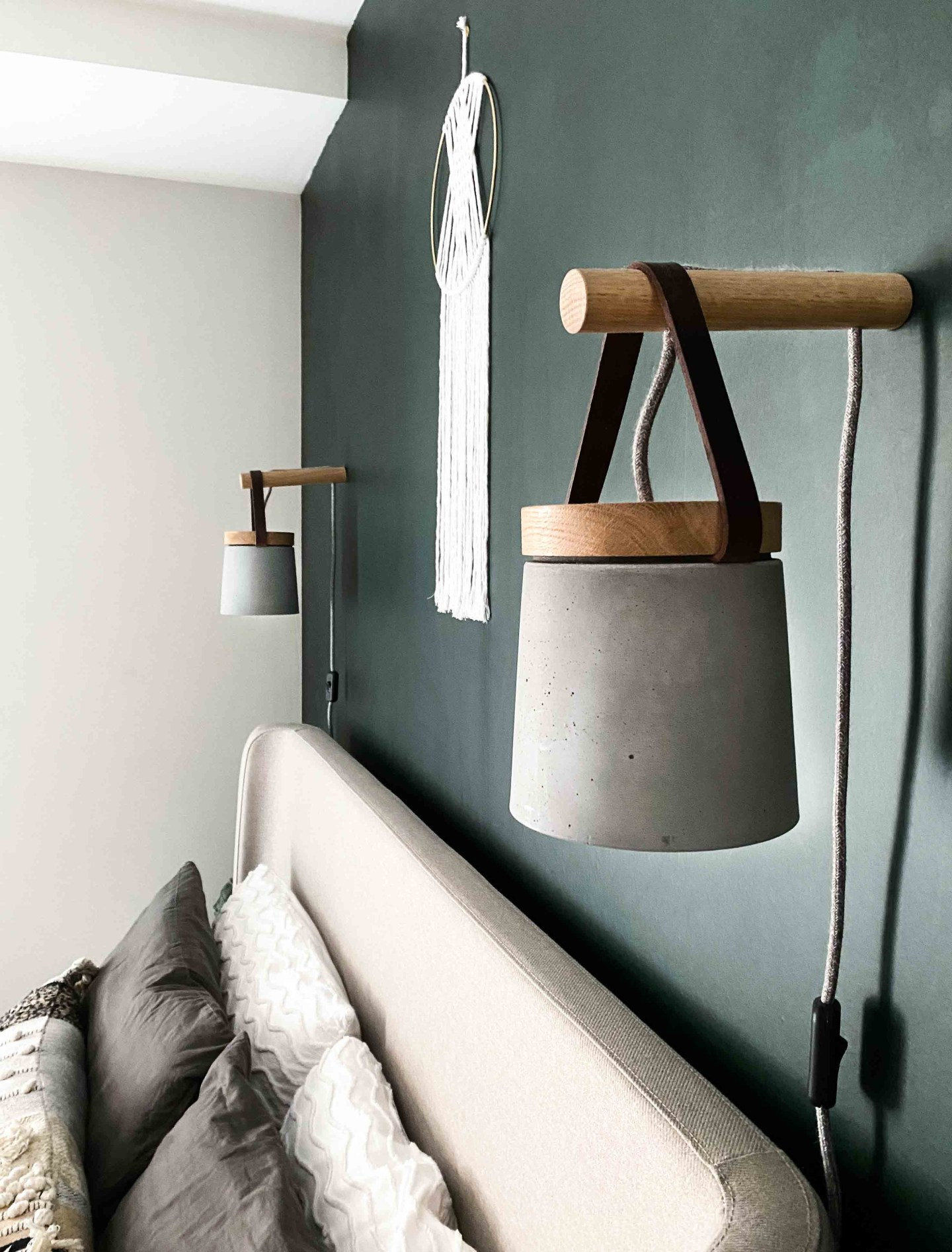 Concrete plug in wall lights