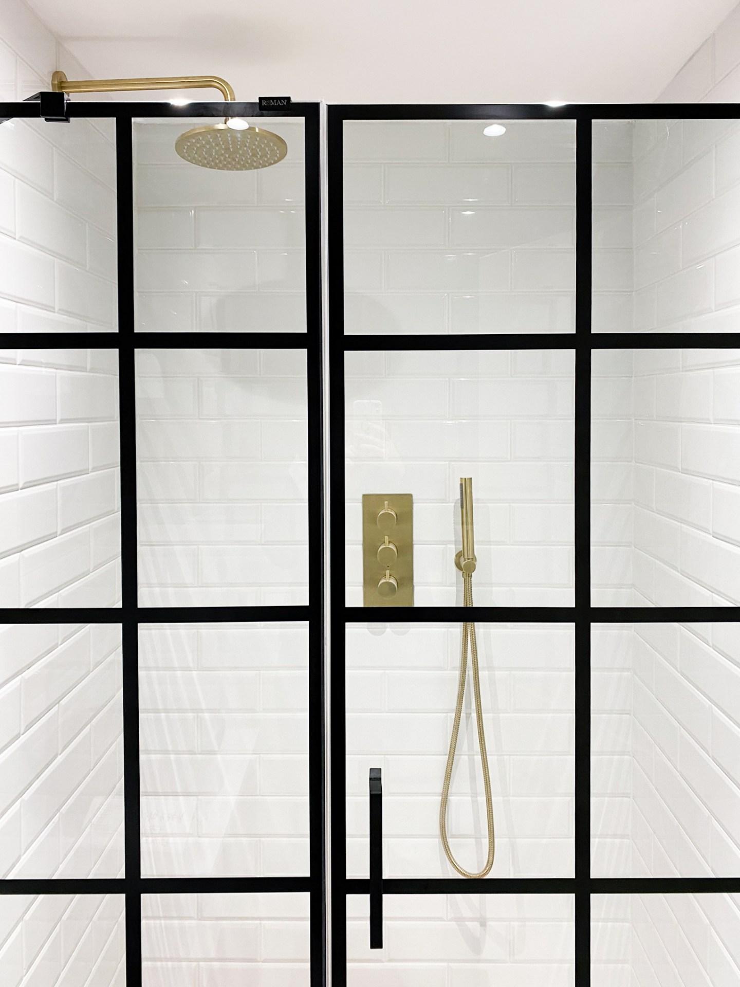 Monochrome Bathroom Shower