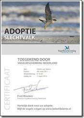 Certificaat_Adoptie_Slechtvalk